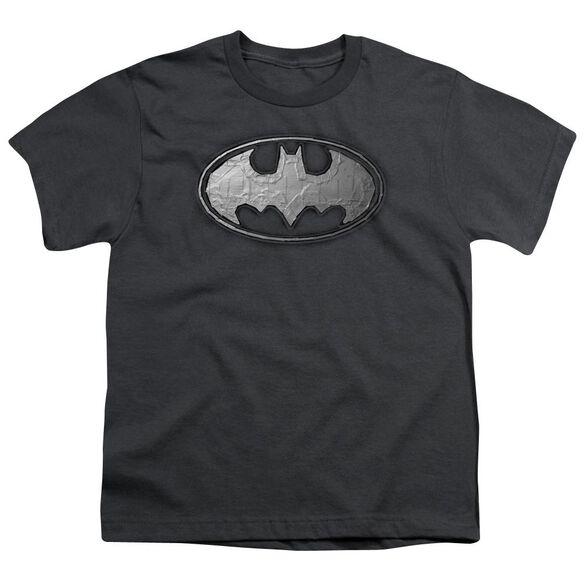 Batman Duct Tape Logo Short Sleeve Youth T-Shirt
