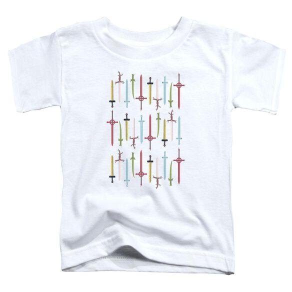 Adventure Time Swords Short Sleeve Toddler Tee White T-Shirt