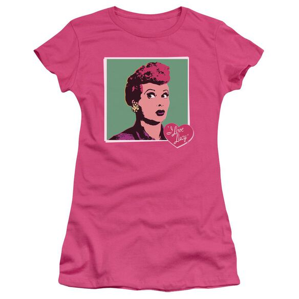 I Love Lucy I Love Worhol Short Sleeve Junior Sheer Hot T-Shirt