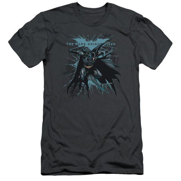 Dark Knight Rises Blue Crackle Short Sleeve Adult T-Shirt