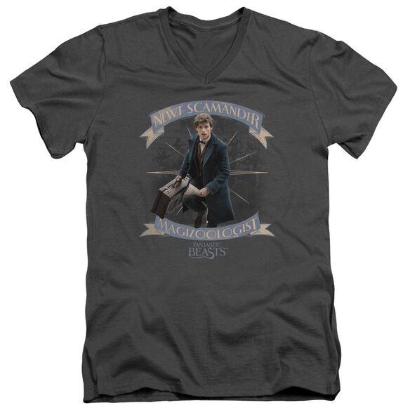 Fantastic Beasts Newt Scamander Short Sleeve Adult V Neck T-Shirt