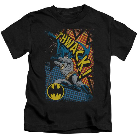 Batman Thwack Short Sleeve Juvenile Black Md T-Shirt