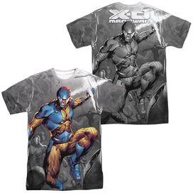 Xo Manowar Warmonger (Front Back Print) Short Sleeve Adult Poly Crew T-Shirt