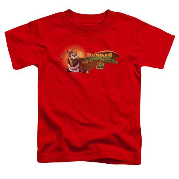 Kung Fu Panda Po Logo Short Sleeve Toddler Tee Red T-Shirt