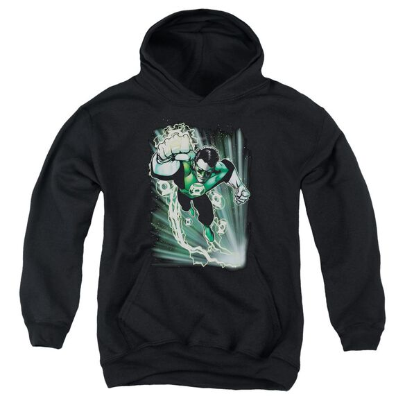 Jla Emerald Energy Youth Pull Over Hoodie