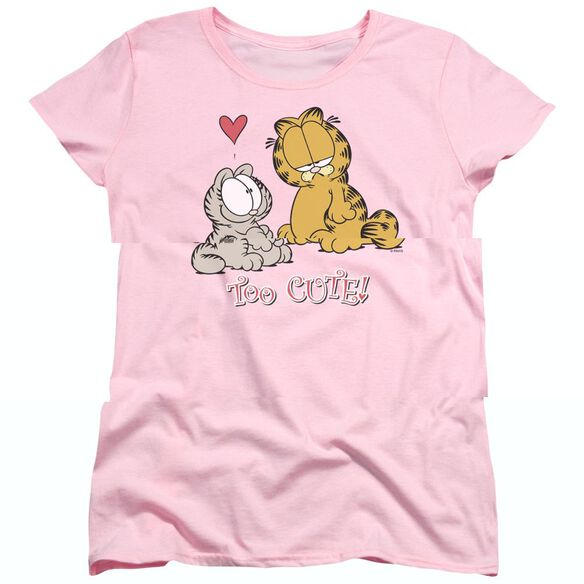 GARFIELD TOO CUTE - S/S WOMENS TEE - PINK T-Shirt