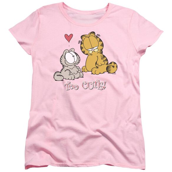 Garfield Too Cute Short Sleeve Womens Tee T-Shirt