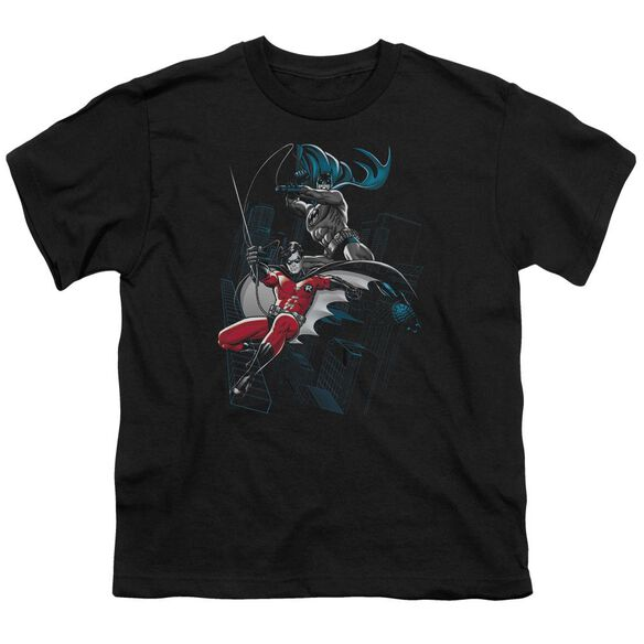 Batman And White Short Sleeve Youth T-Shirt