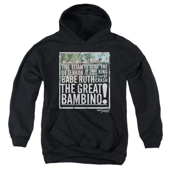 Sandlot The Great Bambino Youth Pull Over Hoodie