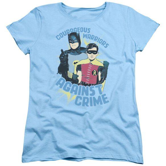 Batman Classic Tv Courageous Warriors Short Sleeve Womens Tee Light T-Shirt