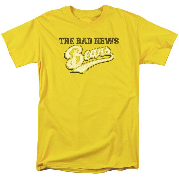 Bad News Bears Logo Short Sleeve Adult Yellow T-Shirt