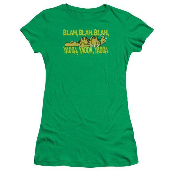 GARFIELD BLAH BLAH BLAH - S/S JUNIOR SHEER - KELLY GREEN T-Shirt