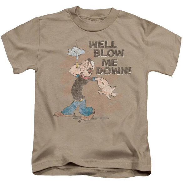 Popeye Blow Me Down Short Sleeve Juvenile Sand Md T-Shirt