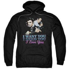 Elvis I Want You Adult Pull Over Hoodie