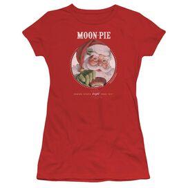 Moon Pie Snacks For Santa Short Sleeve Junior Sheer T-Shirt
