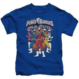 Power Rangers Team Lineup Short Sleeve Juvenile Royal T-Shirt