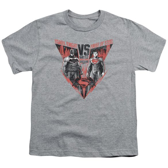 Batman V Superman Batlle For Gotham Short Sleeve Youth Athletic T-Shirt