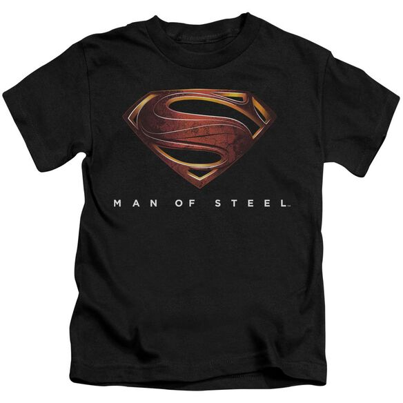 Man Of Steel Mos New Logo Short Sleeve Juvenile Black Md T-Shirt