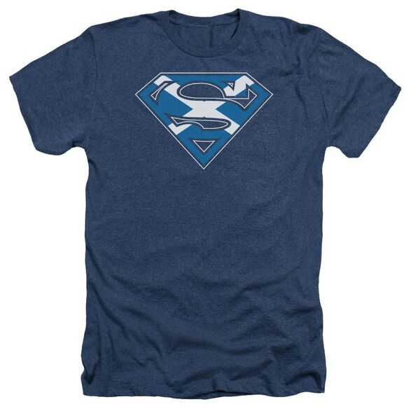 Superman Scottish Shield - Adult Heather - Navy