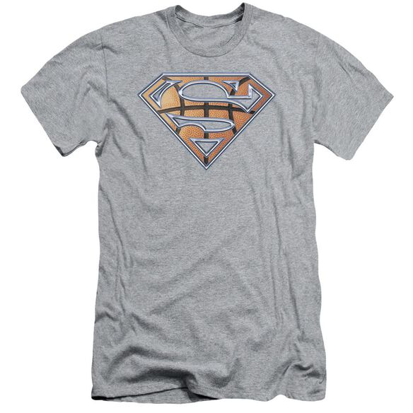 Superman Basketball Shield Short Sleeve Adult Athletic T-Shirt