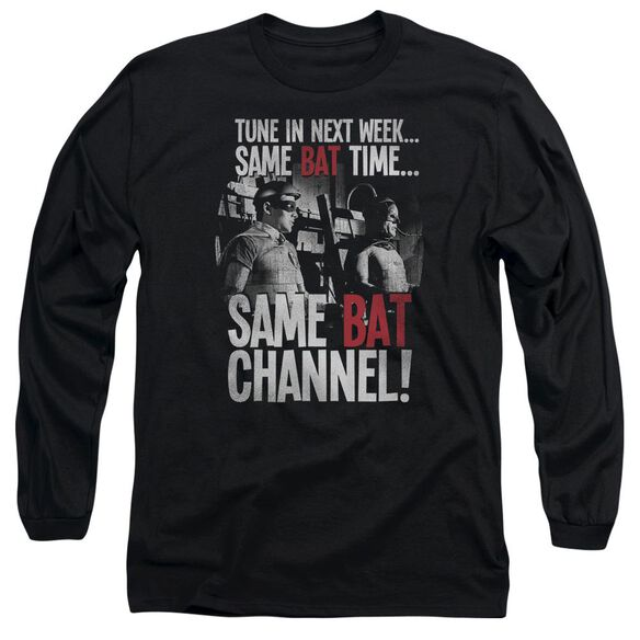 Batman Classic Tv Bat Channel Long Sleeve Adult T-Shirt