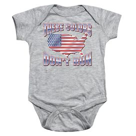 These Colors Dont Run Infant Snapsuit Athletic Heather