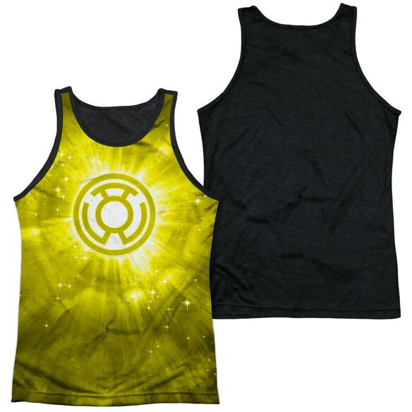 Green Lantern Yellow Energy Adult Poly Tank Top Black Back