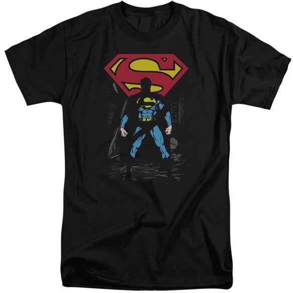 Superman Dark Alley Short Sleeve Adult Tall T-Shirt