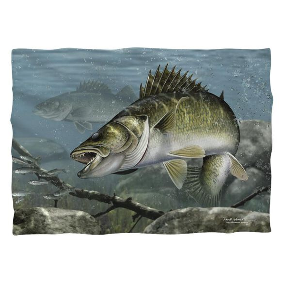 Wild Wings Feeding Frounds 2 Pillow Case White
