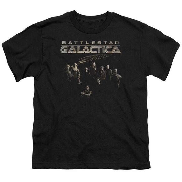 BATTLESTAR GALACTICA BATTLE CAST - S/S YOUTH 18/1 - BLACK T-Shirt