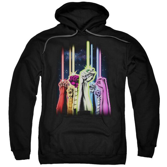 Green Lantern Rainbow Corps Adult Pull Over Hoodie Black