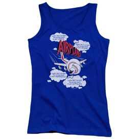 Airplane Picked The Wrong Day Juniors Tank Top Royal
