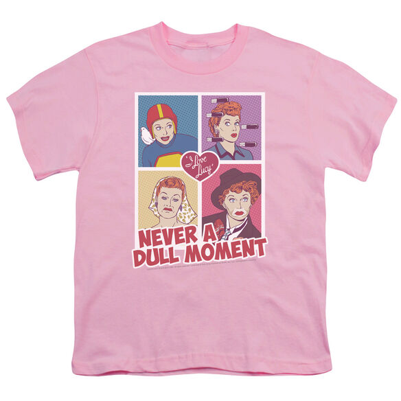 I LOVE LUCY PANELS - S/S YOUTH 18/1 - PINK T-Shirt