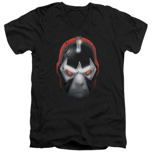 BATMAN BANE HEAD - S/S ADULT V-NECK - BLACK T-Shirt