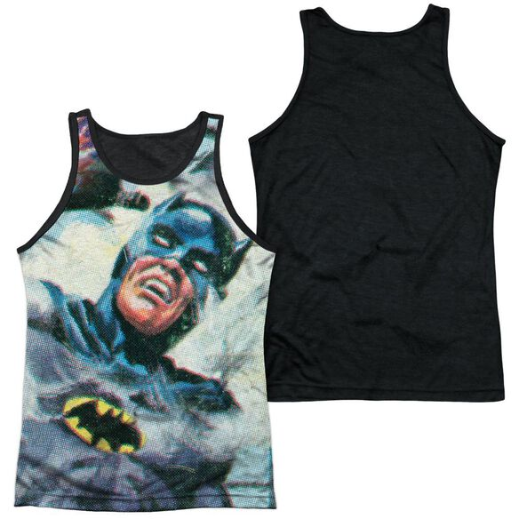 Batman Classic Tv Foliage Adult Poly Tank Top Black Back