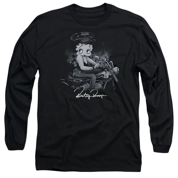 Betty Boop Storm Rider Long Sleeve Adult T-Shirt