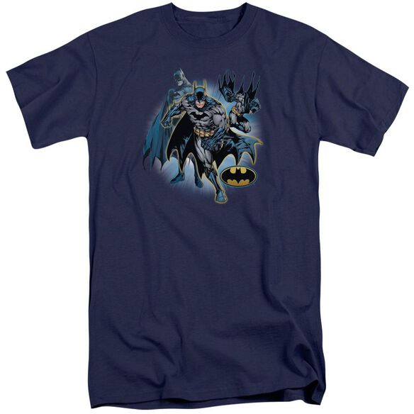 Jla Batman Collage Short Sleeve Adult Tall T-Shirt