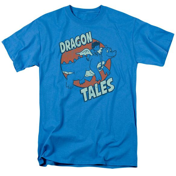 Dragon Tales Flying High Short Sleeve Adult Turquoise T-Shirt
