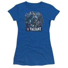 Valiant Ready For Action Short Sleeve Junior Sheer Royal T-Shirt