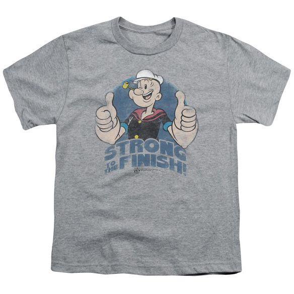 Popeye To The Finish Short Sleeve Youth Athletic T-Shirt