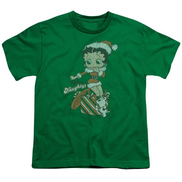 Betty Boop Define Naughty Short Sleeve Youth Kelly T-Shirt