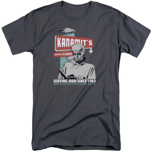 Twilight Zone Kanamits Diner Short Sleeve Adult Tall T-Shirt