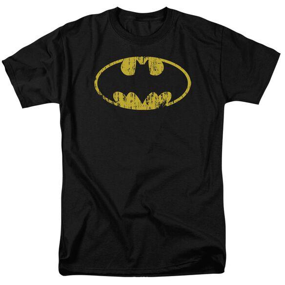 Batman Classic Logo Distressed Short Sleeve Adult T-Shirt