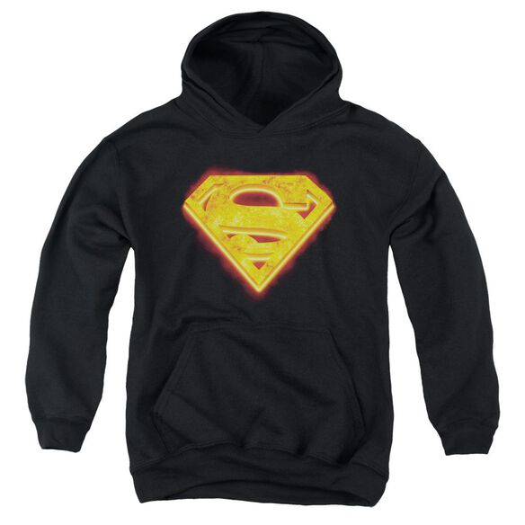 Superman Hot Steel Shield Youth Pull Over Hoodie