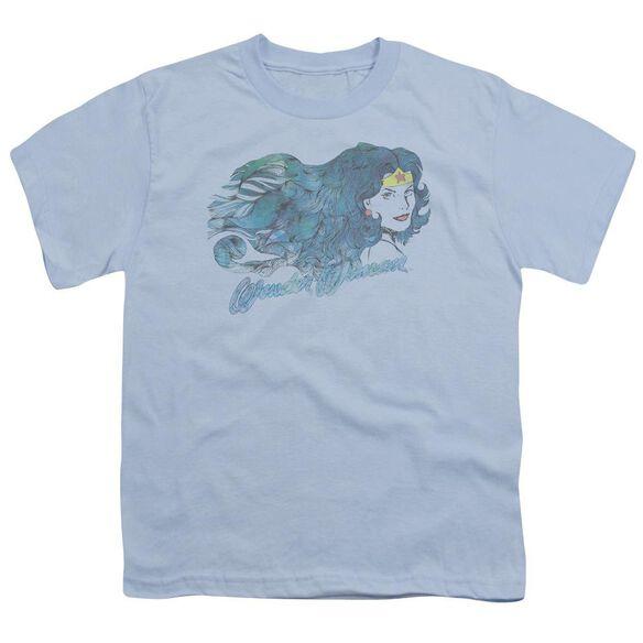 Jla Watercolor Hair Short Sleeve Youth Light T-Shirt