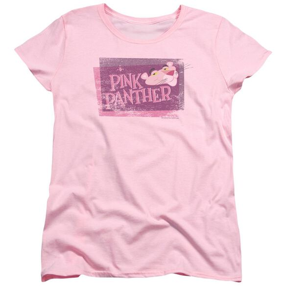 Panther Distressed Short Sleeve Women's Tee T-Shirt