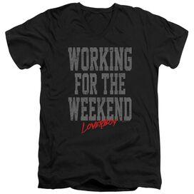Loverboy Working Short Sleeve Adult V Neck T-Shirt