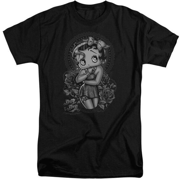 Betty Boop Fashion Roses Short Sleeve Adult Tall T-Shirt