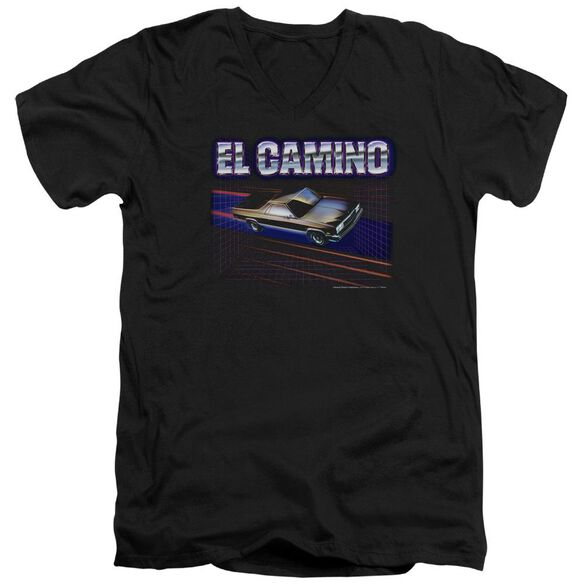 Chevrolet El Camino 85 Short Sleeve Adult V Neck T-Shirt
