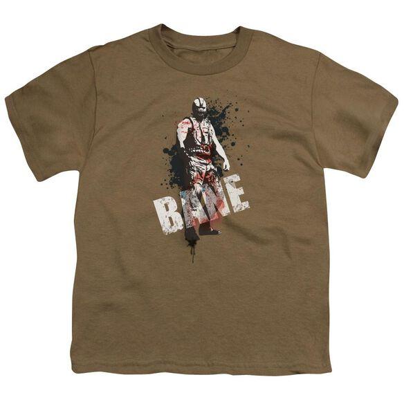 Dark Knight Rises Bane Splatter Short Sleeve Youth Safari T-Shirt